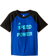 adidas Kids - Speed & Power Tee (Toddler/Little Kids)