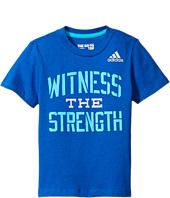 adidas Kids - Witness the Strength Tee (Big Kids)