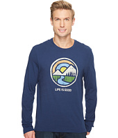 Life is Good - Color Block Mountains Long Sleeve Smooth Tee