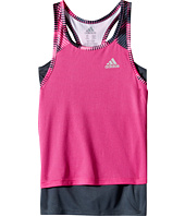 adidas Kids - Layer Up Twofer Tank Top (Big Kids)