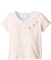 Lanvin Kids - Short Sleeve T-Shirt w/ Beaded Daisy Design On Front (Toddler/Little Kids)