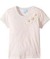 Lanvin Kids - Short Sleeve T-Shirt w/ Beaded Daisy Design On Front (Little Kids/Big Kids)