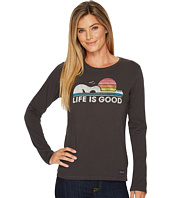 Life is Good - Guitar Dog Long Sleeve Crusher Tee