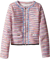 Karl Lagerfeld Kids - Tweed Jacket w/ Fringe and Black Trim (Big Kids)