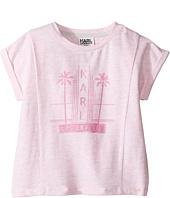 Karl Lagerfeld Kids - Short Sleeve Melange Jersey Tee w/ Miami Print (Toddler)