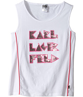 Karl Lagerfeld Kids - Tank Top w/ Contrast Piping & Sequin Graphics (Little Kids)