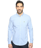 Lacoste - Long Sleeve BD Gingham Check Poplin Reg Fit