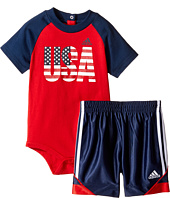 adidas Kids - USA Bodyshirt Set (Infant)