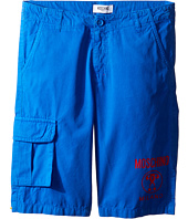 Moschino Kids - Shorts w/ Side Pocket & Logo Detail (Big Kids)