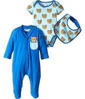 Moschino Kids - Teddy Bear Footie Body and Bib Set (Infant)