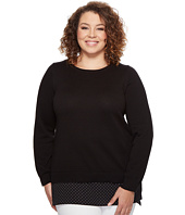 MICHAEL Michael Kors - Plus Size Long Sleeve Tiny Dot Hem Sweater