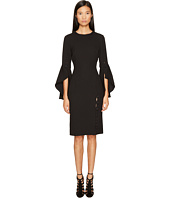 Prabal Gurung - Poly Crepe Ruffle Sleeve Sheath Dress