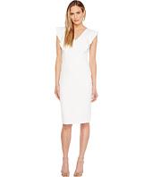 Ivanka Trump - Scuba Crepe Dress with Flutter Sleeves
