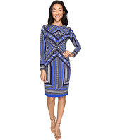 Vince Camuto - Pleated Crepe Long Sleeve Bodycon Dress