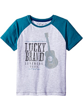Lucky Brand Kids - South Tour Raglan Tee in Heathered Jersey (Toddler)