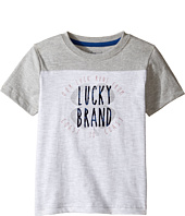 Lucky Brand Kids - Coastal Luck Short Sleeve Tee in Slub Heather Jersey (Toddler)