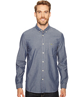 Lacoste - Long Sleeve Bold Chambray Denim w/ Contrasted Stitch