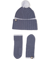 UGG Kids - Ribbed Tip Cuff Hat/Mitten Set (Toddler/Little Kids)
