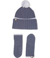 UGG Kids - Ribbed Tip Cuff Hat/Mitten Set (Toddler/Little Kids)