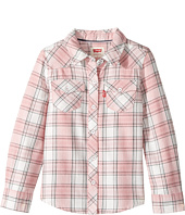 Levi's® Kids - The Western Long Sleeve Plaid Top (Toddler)