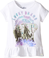 Lucky Brand Kids - Short Sleeve Elephant Tee with Ruffle Hem (Toddler)