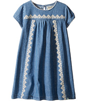 Lucky Brand Kids - Chambray Embroidered Cap Sleeve Dress (Little Kids)