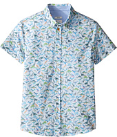 Paul Smith Junior - Short Sleeve Dinosaur All Over Printed Shirt (Big Kids)