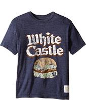 The Original Retro Brand Kids - Short Sleeve Tri-Blend White Castle Tee (Big Kids)