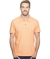 Agave Denim - Short Sleeve Polo Italian Pique in Orange