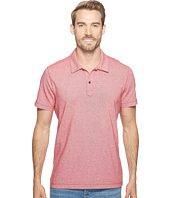 Agave Denim - Short Sleeve Polo Italian Pique in Red