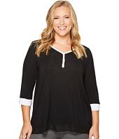DKNY - Plus Size 3/4 Sleeve Top