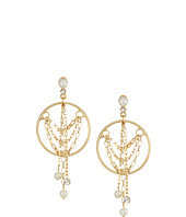 Steve Madden - Pearl/Ring/Chain Fringe Earrings