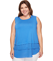Vince Camuto Specialty Size - Plus Size Sleeveless Mix Media Layered Top