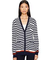 Sonia Rykiel - Graphic Stripes Cotton Cardigan