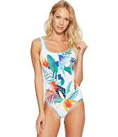 Tommy Bahama - Hibiscus of Paradise Zip-Front One-Piece Swimsuit
