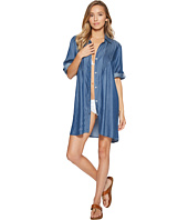 Tommy Bahama - Chambray Pintuck Tunic Cover-Up