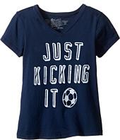 The Original Retro Brand Kids - Just Kicking It Short Sleeve V-Neck Tee (Big Kids)