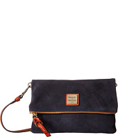Dooney & Bourke - Suede Fold-Over Zip Crossbody