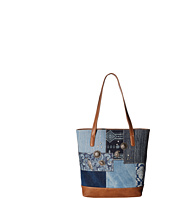 American West - Indigo Zip Top Bucket Tote