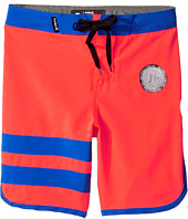 Hurley Kids - Print Block Party Boardshorts (Little Kids)
