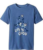 Life is Good Kids - Bicycle Kick Soccer Crusher Tee (Little Kids/Big Kids)