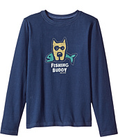 Life is Good Kids - Fishing Buddy Long Sleeve Crusher Tee (Little Kids/Big Kids)