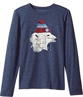 Life is Good Kids - Polar Bear Cap Long Sleeve Cool Tee (Little Kids/Big Kids)