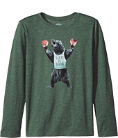 Life is Good Kids - Boxing Bear Long Sleeve Cool Tee (Little Kids/Big Kids)