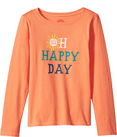 Life is Good Kids - Oh Happy Day Long Sleeve Crusher Tee (Little Kids/Big Kids)