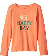 Life is Good Kids - Oh Happy Day Long Sleeve Crusher Tee (Little Kids/Big Kids)