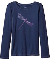 Life is Good Kids - Dragonfly Pattern Long Sleeve Crusher Tee (Little Kids/Big Kids)