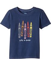 Life is Good Kids - Human Crayons Crusher Tee (Toddler)