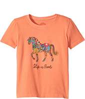 Life is Good Kids - Flower Swirl Horse Crusher Tee (Toddler)