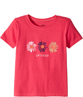 Life is Good Kids - Three Daisies Painted Crusher Tee (Toddler)
